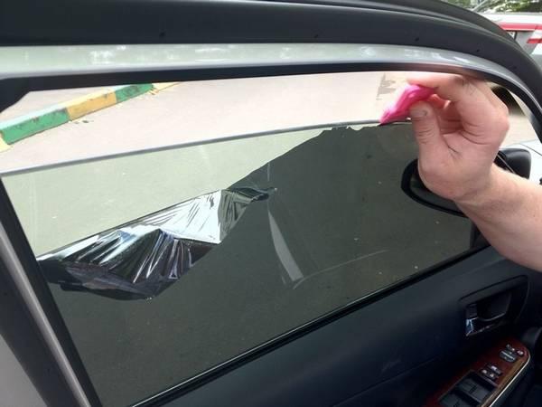 Как затонировать стекло в машине своими руками 47